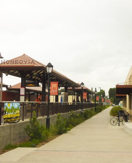 Monrovia transit village / AHBE Landscape Architects