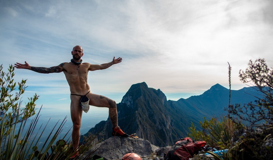 Standing naked on the summit of El Toro.