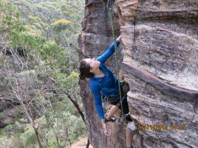 Vankate on the Ancient Mariner at Boronia Point in the Blue Mountains