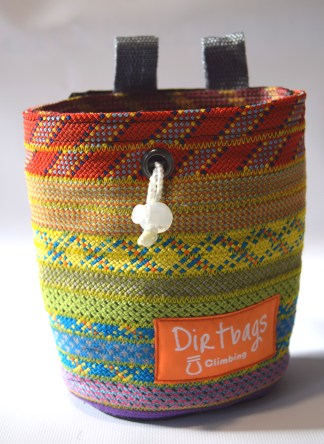 rainbow chalk bag dirtbags climbing
