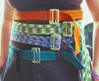 Belts made from recycled climbing rope