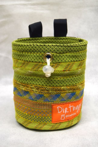 Recycled rope chalk bag handmade in the UK