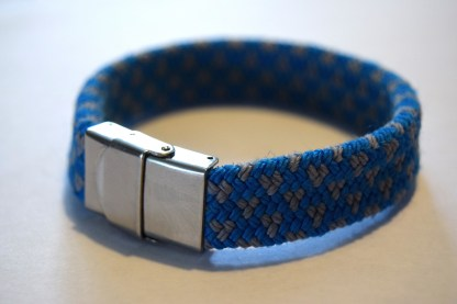 Handmade recycled climbing rope bracelet
