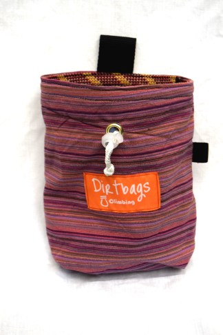 Chalk bag handmade ethically in the UK using upcycled fabric
