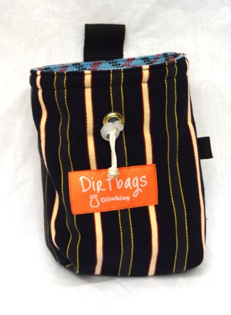 Chalk bag made using upcycled fabric, made ethically in the UK