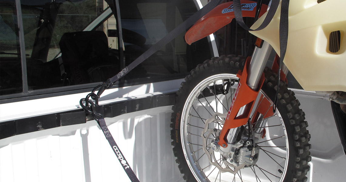 ccr bed buddy motorcycle tie down rack