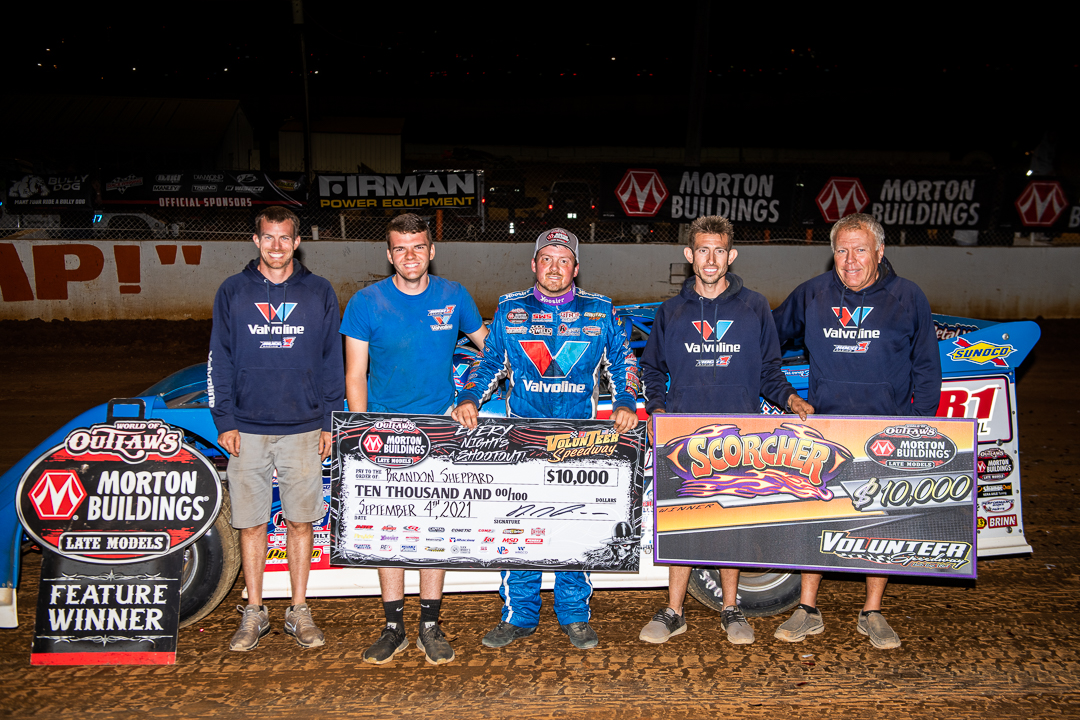 ONE STEP AWAY: Sheppard wins the Scorcher at Volunteer Speedway