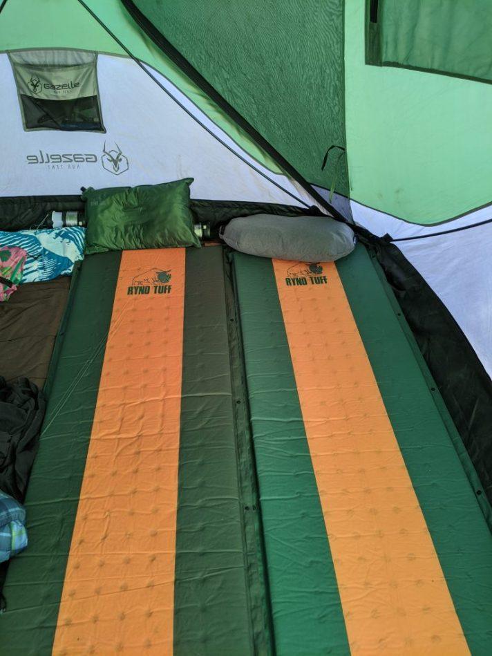 sleeping pad inside tent