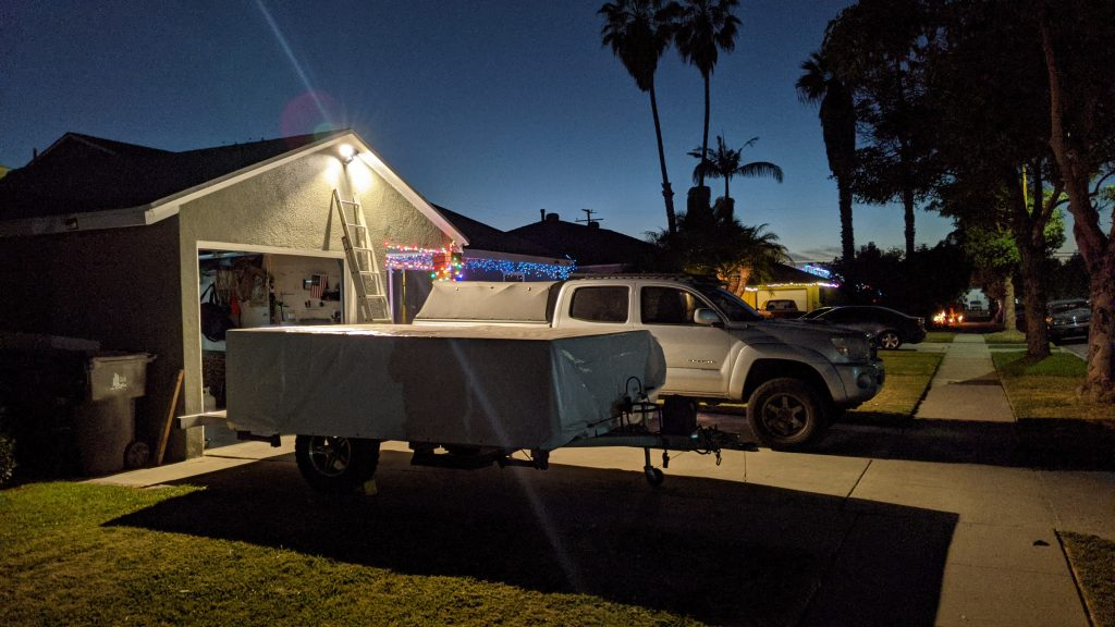 floodlight camper over camper trailer