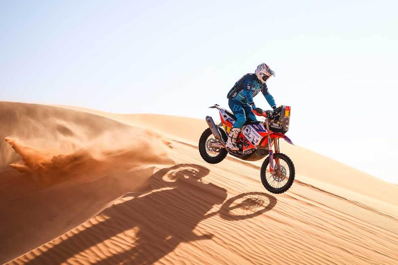 Skyler Howes Leading Bike Class After Stage 3 at Dakar