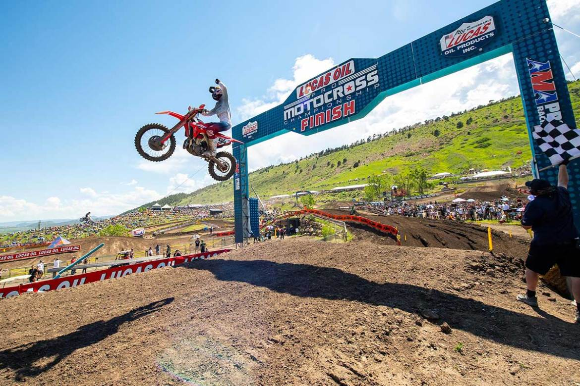 Red Plate for Roczen after Thunder Valley Sweep