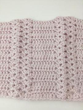 crochet baby blanket - pink.3