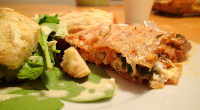 Spinach and Sausage Lasagna ~ Dirty Dish Club