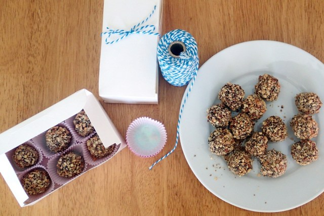 Chocolate Nutballs with Creme Centers ~ Dirty Dish Club