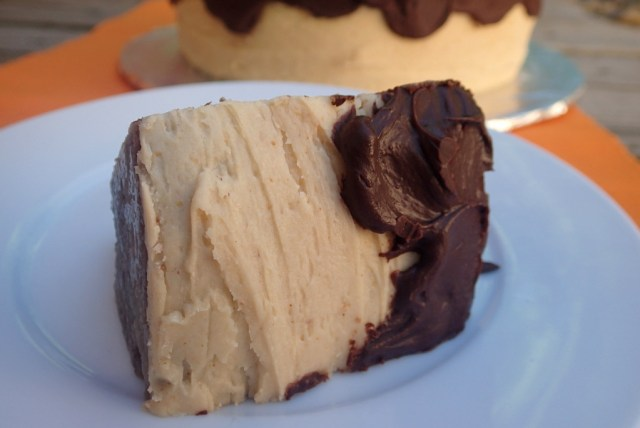 High Altitude Chocolate Peanut Butter Cake