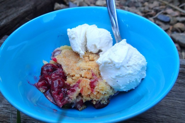 Dutch Oven Cherry Cobbler ~ Dirty Dish Club