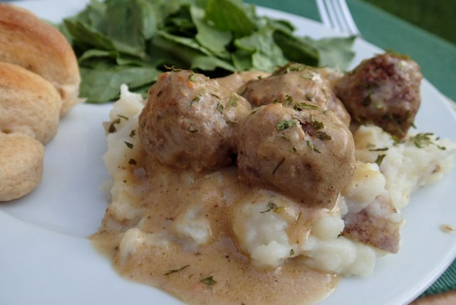 Swedish Meatballs with Sneaky Veggies ~ Dirty Dish Club