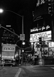 outside the Whisky a go go on the sunset strip on a wednesday night.