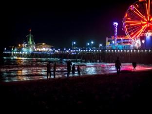 along the shore of Santa Monica