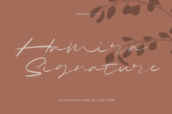 Hamira – Signature Brush Font