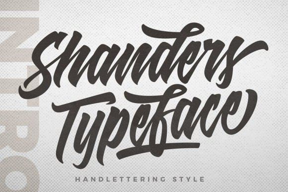 Shanders Typeface
