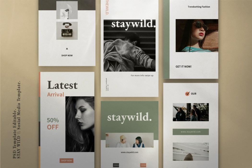 STAYWILD // Social Media Kit Post & Stories
