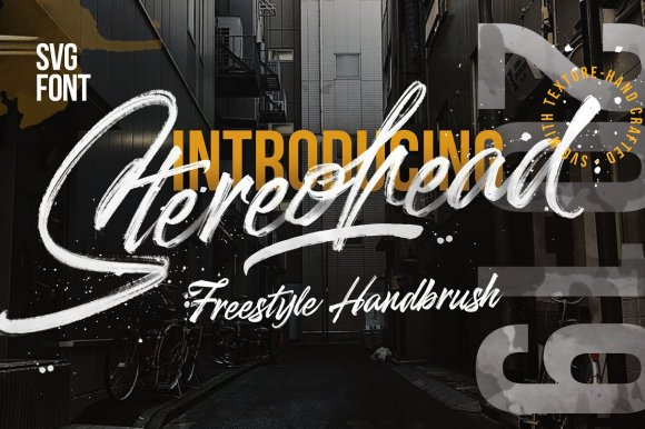 Stereohead – SVG FONT ⚡️