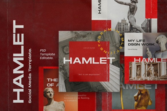 HAMLET // Social Media Kit Post & Stories