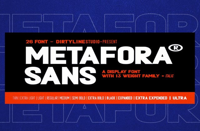 METAFORA SANS With Variable Font and Urban Concept
