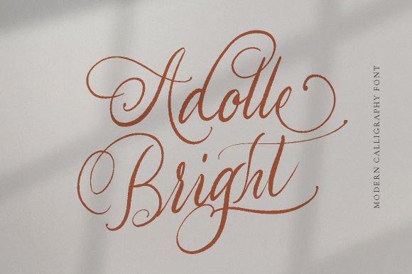 Adolle Bright – Script Font