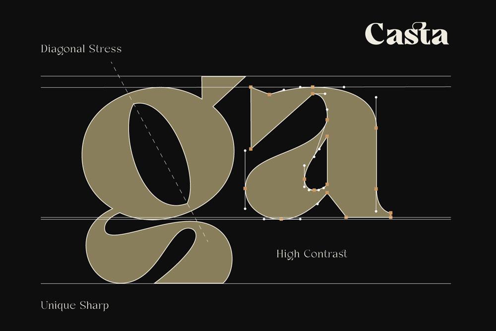Casta Free Display Typeface