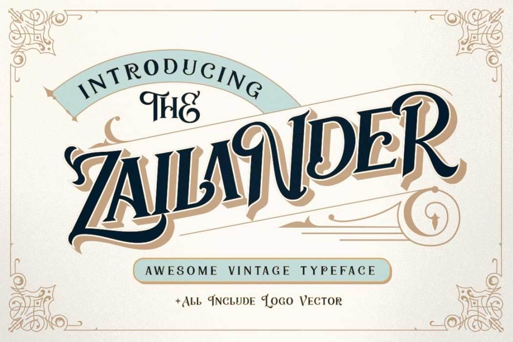 Zailander Free Font