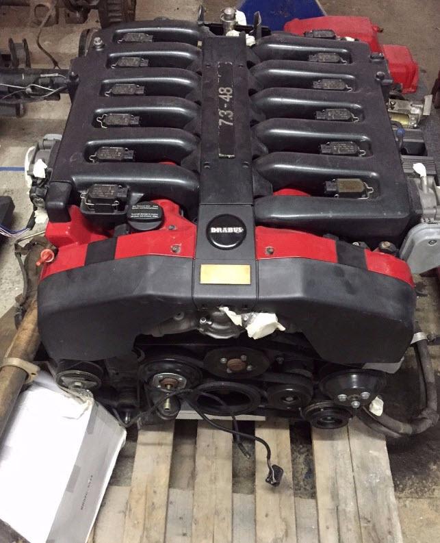dirtyoldcars.com brabus-engine-7-3-1 1999 Mercedes Benz Brabus E V12 7.3S Liter Complete Engine 8