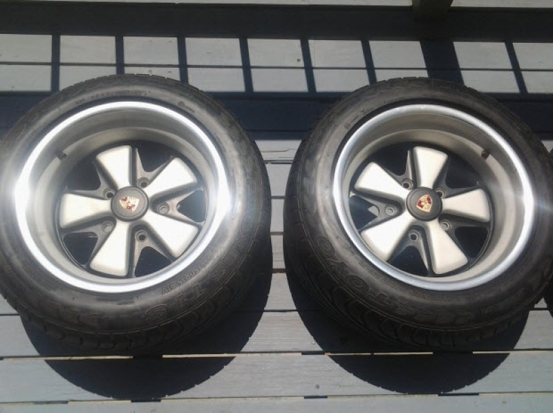 dirtyoldcars.com Porsche RSR Fuchs Wheels: Pair of 15 x 9 and Pair of 15 x 11 For Sale by Harvey Weidman