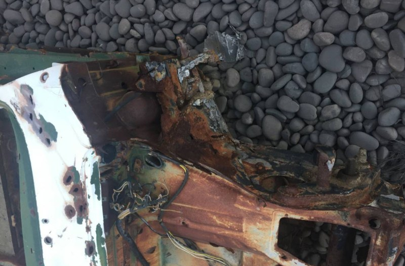 dirtyoldcars.com 1965 Porsche 356 Basket Case Found in Phoenix 1