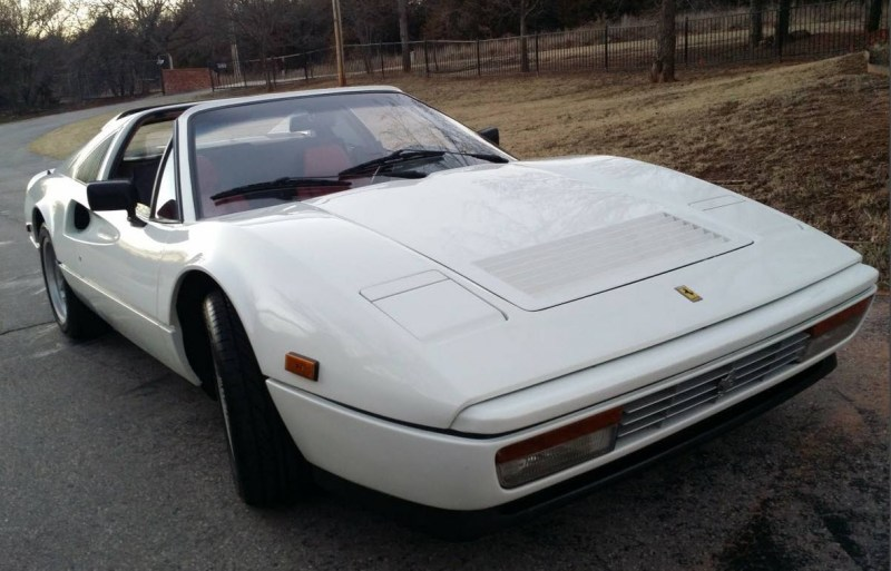 dirtyoldcars.com White 1987 Ferrari 328 GTS Found in Edmond Oklahoma 9