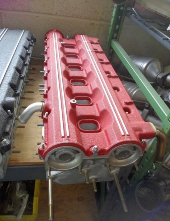 dirtyoldcars.com Ferrari 512TR Cylinder Head 3