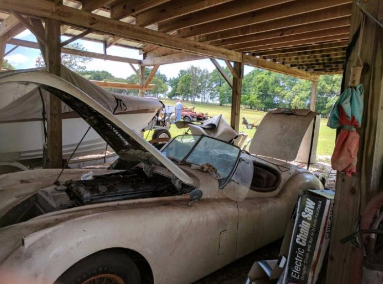 dirtyoldcars.com   1953 Jaguar XK120 Roadster Found in New York   8