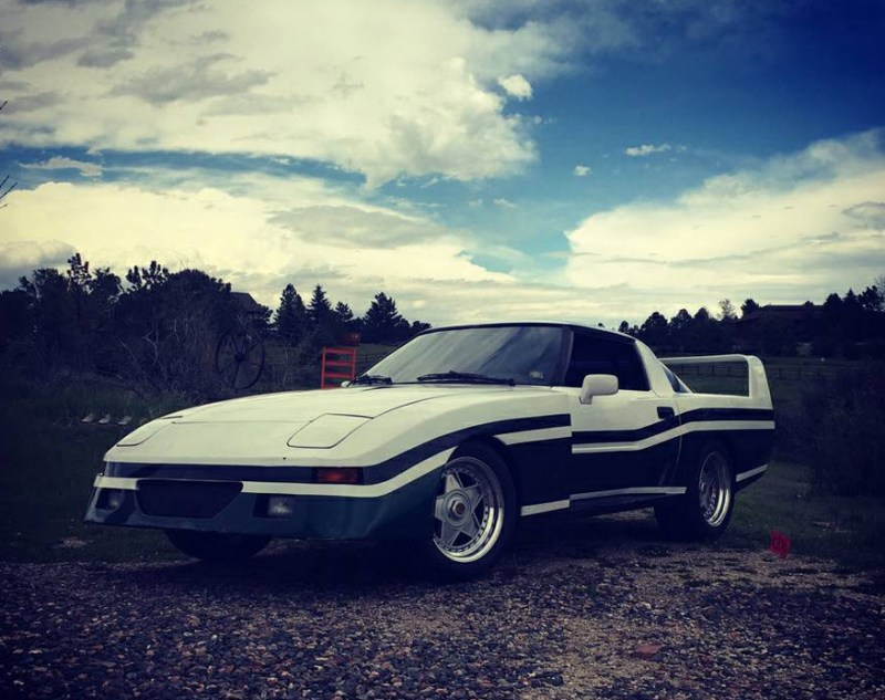 dirtyoldcars.com 1982 Mazda RX-7 Le Mans Found in Parker Colorado F40 Wheels 6