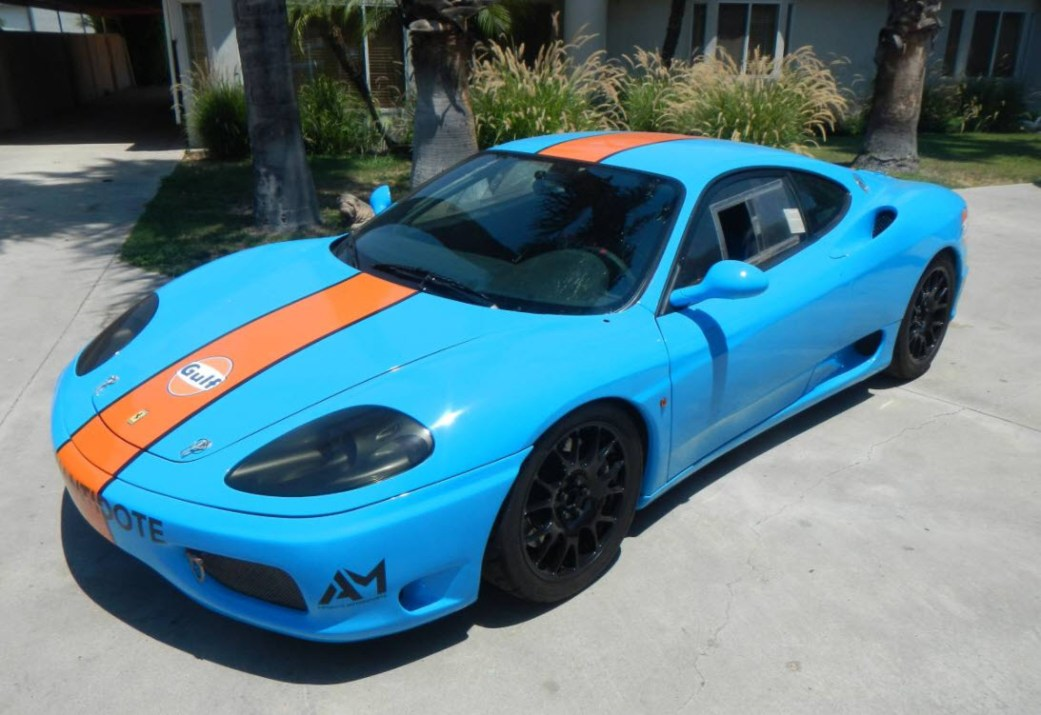 dirtyoldcars.com 1999 Ferrari 360 Factory Race Car Found in Los Angeles California 8