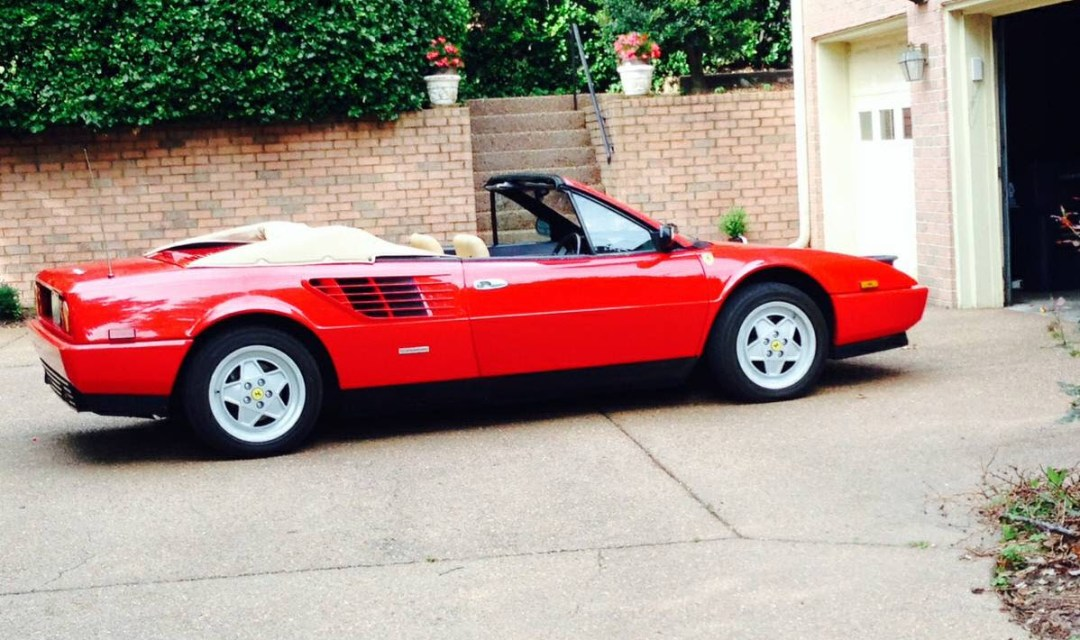 dirtyoldcars.com 1986 Ferrari Mondial Cabriolet Found in Nashville Tennessee 5
