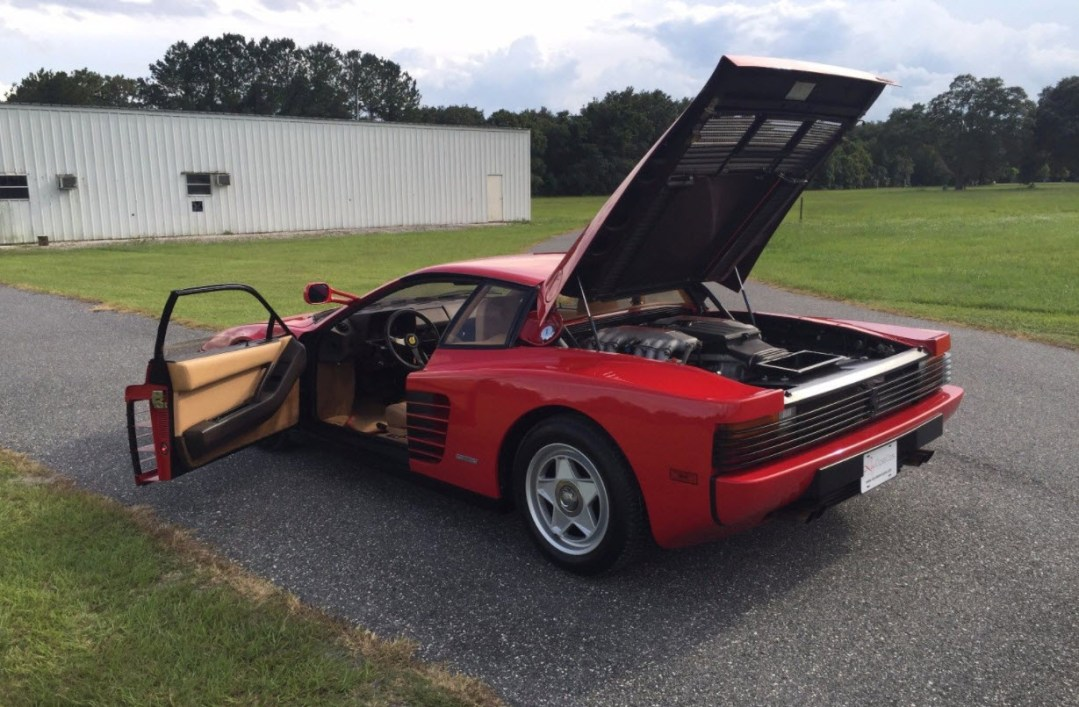 dirtyoldcars.com 1985 Ferrari Testarossa Flying Mirror Found in Orlando Florida 8