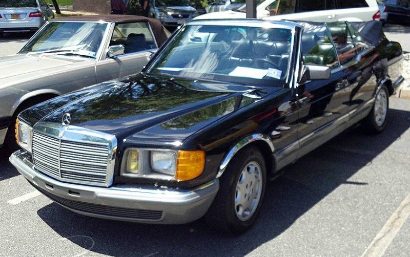 dirtyoldcars.com 1984 Mercedes 500SEL Convertible Caruna Conversion Found in New York 9