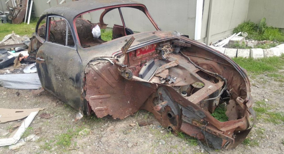dirtyoldcars.com 1962 Porsche 356 Body Found in Vacaville California 7