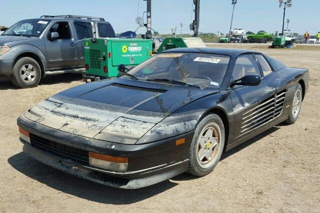 dirtyoldcars.com 1988 Ferrari Testarossa Flood Damage 9