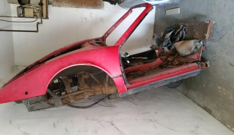 dirtyoldcars.com   1977 Ferrari 308 Body Shell Found in San Bernardino    5