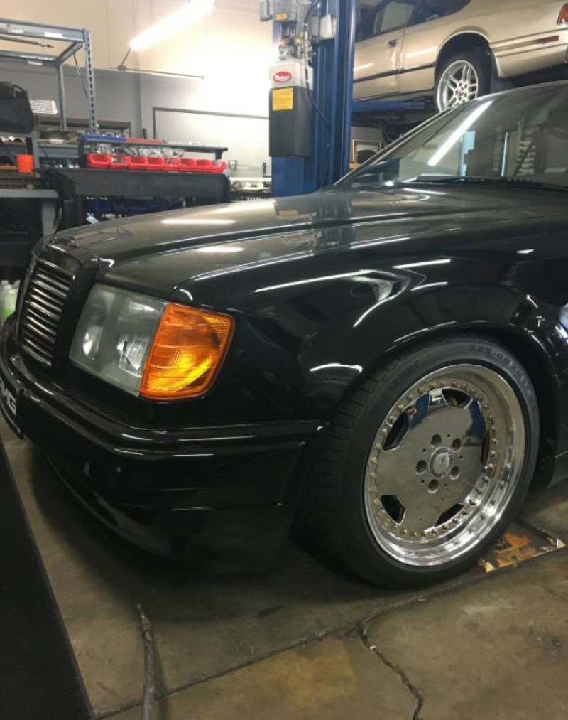 dirtyoldcars.com AMG Hammer Build Found in Hayward California 1994 E320 Coupe 6