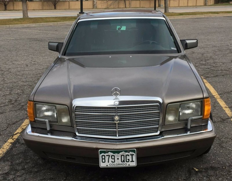 dirtyoldcars.com   Mercedes 560 SEL With Rare Seating Option Found in Denver   1