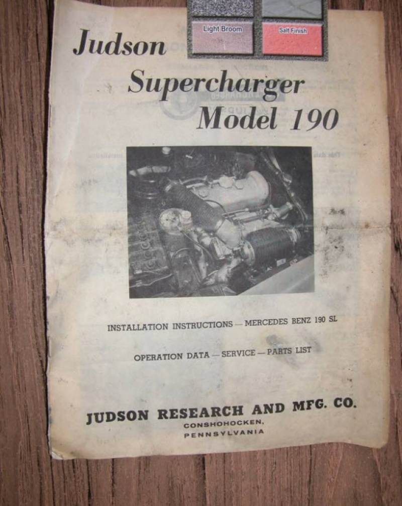 dirtyoldcars.com Judson Super For 190SL Found in Santa Cruz 1