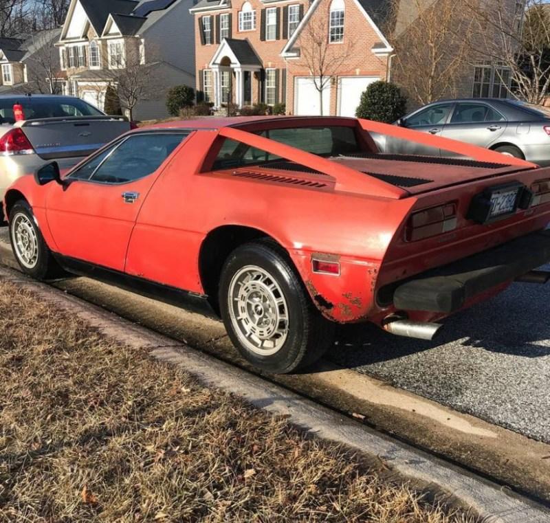 dirtyoldcars.com   1979 Maserati Merak SS  with Bora Dash Found in Maryland   12